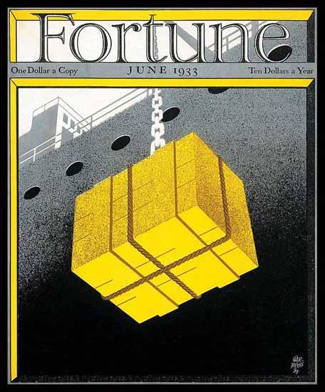 Paolo Garretto Fortune Magazine June 1933 Copyright | Fortune Magazine Graphic Art Covers 1930-1959