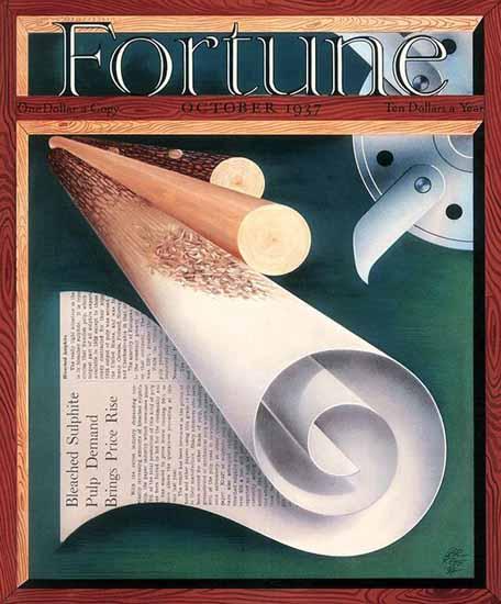 Paolo Garretto Fortune Magazine October 1937 Copyright | Fortune Magazine Graphic Art Covers 1930-1959