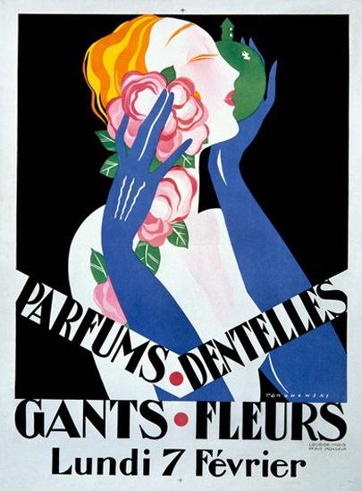 Parfums Dentelles Gants Fleur Gronowski | Sex Appeal Vintage Ads and Covers 1891-1970
