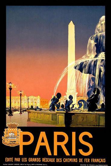 Paris Chemins De Fer Francais France | Vintage Travel Posters 1891-1970