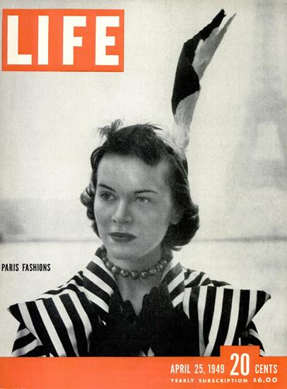Paris Fashions 25 Apr 1949 Copyright Life Magazine | Life Magazine BW Photo Covers 1936-1970