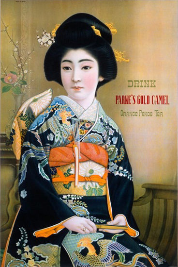 Parkes Gold Camel Orange Pekoe Tea Geisha   Sex Appeal Vintage Ads and Covers 1891-1970