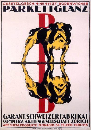 Parkettglanz Bodenwichse Zuerich Bulldog Polish | Vintage Ad and Cover Art 1891-1970