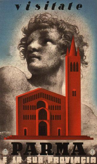 Parma E La Sua Provincia Church Italy Italia | Vintage Travel Posters 1891-1970