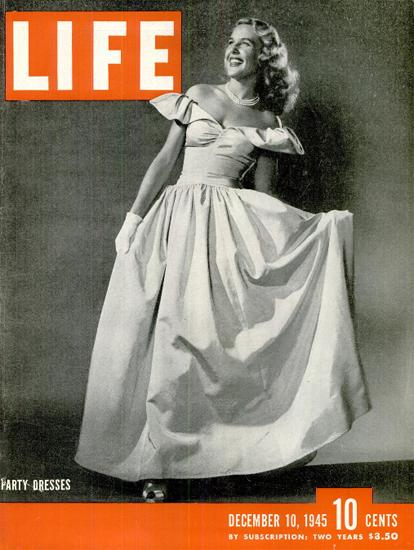 Party Dresses 10 Dec 1945 Copyright Life Magazine   Life Magazine BW Photo Covers 1936-1970