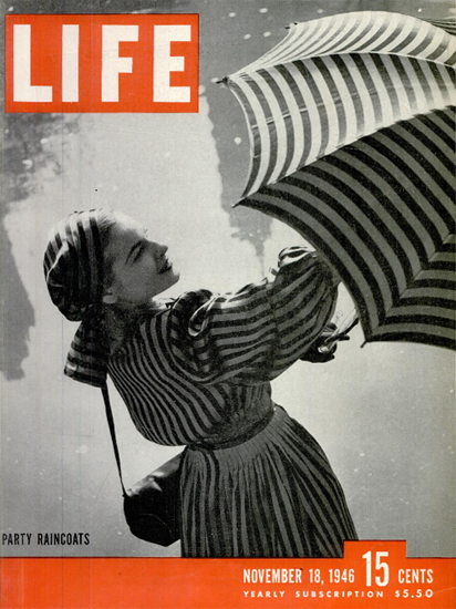 Party Raincoats 18 Nov 1946 Copyright Life Magazine | Life Magazine BW Photo Covers 1936-1970