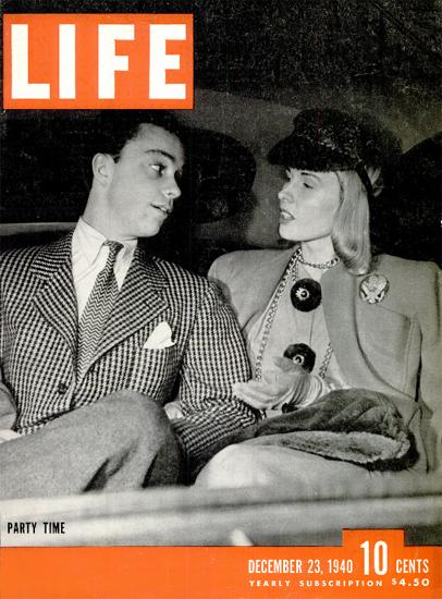 Party Time 23 Dec 1940 Copyright Life Magazine   Life Magazine BW Photo Covers 1936-1970