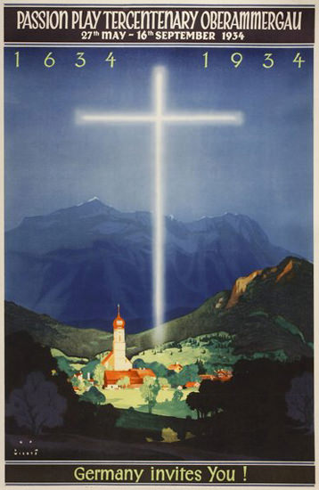 Passion Play Oberammergau 1934 Germany | Vintage Ad and Cover Art 1891-1970