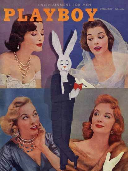 Pat Lawler and other Cover Girls Playboy 1956-02 Copyright Sex Appeal | Sex Appeal Vintage Ads and Covers 1891-1970