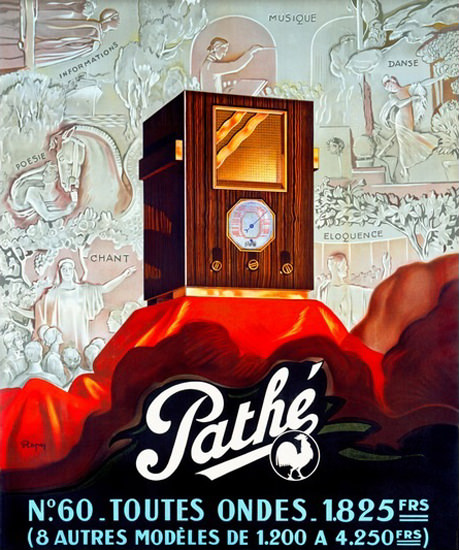 Pathe Radio Tube Rooster | Vintage Ad and Cover Art 1891-1970
