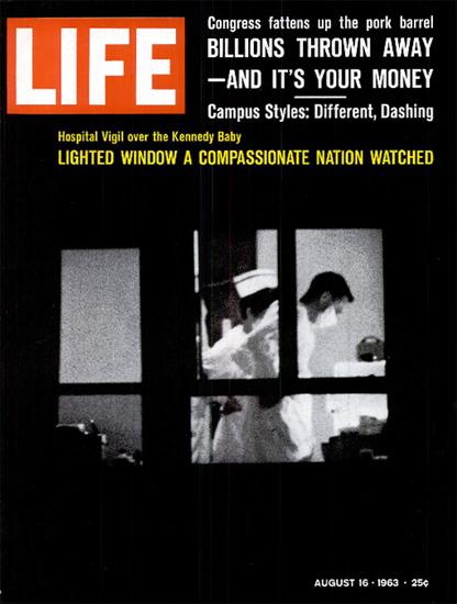 Patrick Bouvier Kennedy Life Death 16 Aug 1963 Copyright Life Magazine | Life Magazine BW Photo Covers 1936-1970