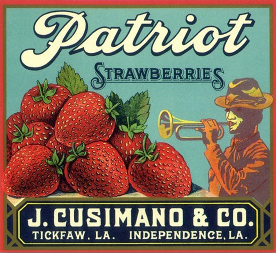 Patriot Strawberries Trumpeter J Cusimano | Vintage Ad and Cover Art 1891-1970