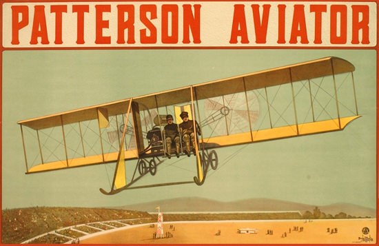 Patterson Aviator Detroit Michigan 1916 | Vintage Travel Posters 1891-1970