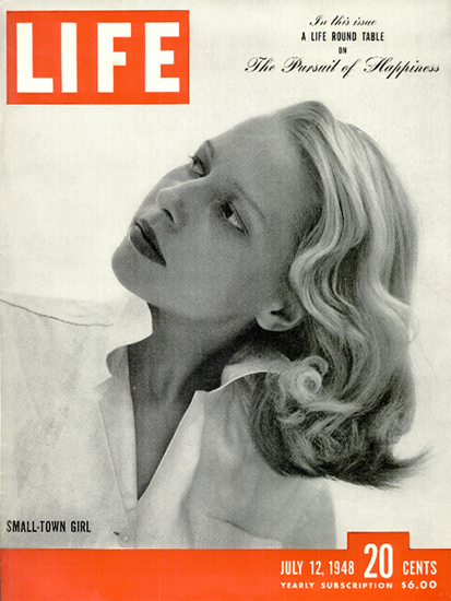 Pattie Nelson the Small-Town Girl 12 Jul 1948 Copyright Life Magazine | Life Magazine BW Photo Covers 1936-1970