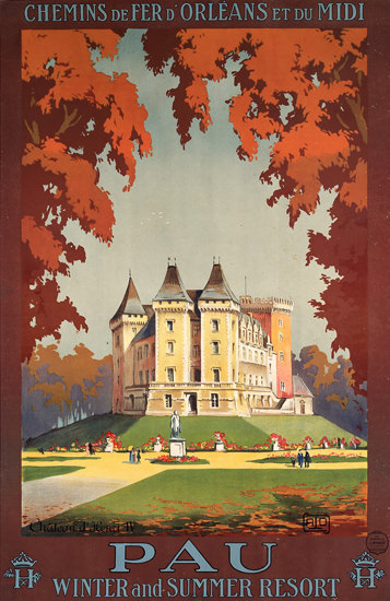 Pau Winter And Summer Resort 1910 | Vintage Travel Posters 1891-1970