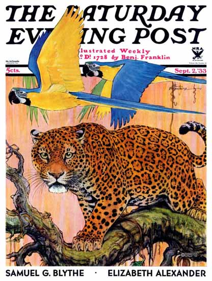 Paul Bransom Cover Artist Saturday Evening Post 1933_09_02 | The Saturday Evening Post Graphic Art Covers 1931-1969