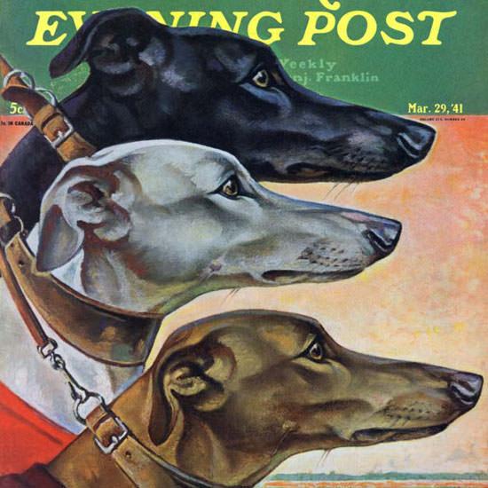 Paul Bransom Saturday Evening Post Grey 1941_03_29 Copyright crop | Best of Vintage Cover Art 1900-1970