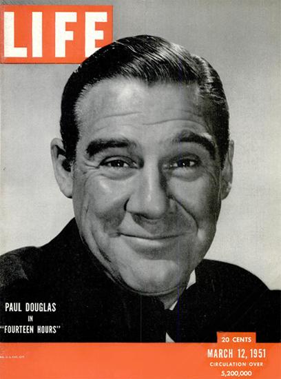 Paul Douglas in Fourteen Hours 12 Mar 1951 Copyright Life Magazine | Life Magazine BW Photo Covers 1936-1970