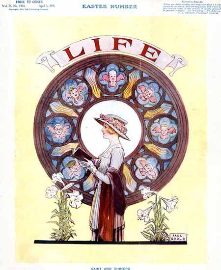 Paul Goold Life Humor Magazine 1919-04-03 Copyright | Life Magazine Graphic Art Covers 1891-1936