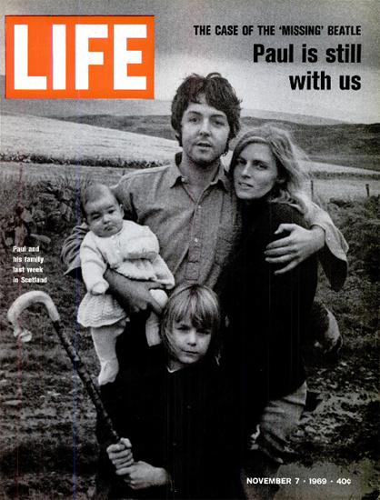 Paul McCartney The Missing Beatle 7 Nov 1969 Copyright Life Magazine | Life Magazine BW Photo Covers 1936-1970