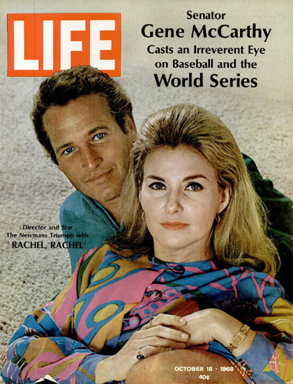 Paul Newman Joanne Woodward 18 Oct 1968 Copyright Life Magazine | Life Magazine Color Photo Covers 1937-1970
