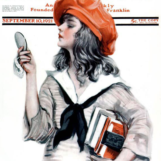 Paul Stahr Artist Saturday Evening Post 1921_09_10 Copyright crop | Best of Vintage Cover Art 1900-1970