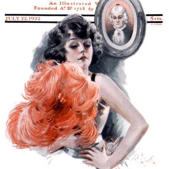 Paul Stahr Artist Saturday Evening Post 1922_07_22 Copyright crop | Best of 1920s Ad and Cover Art