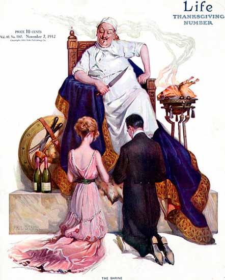 Paul Stahr Life Humor Magazine 1912-11-07 Copyright | Life Magazine Graphic Art Covers 1891-1936