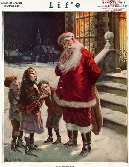 Paul Stahr Life Humor Magazine 1914-12-03 Copyright | Life Magazine Graphic Art Covers 1891-1936