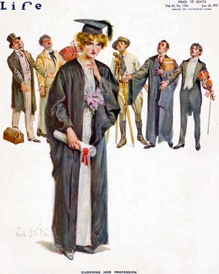 Paul Stahr Life Humor Magazine 1915-06-24 Copyright   Life Magazine Graphic Art Covers 1891-1936