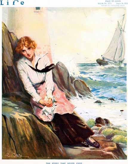 Paul Stahr Life Humor Magazine 1915-08-26 Copyright | Life Magazine Graphic Art Covers 1891-1936