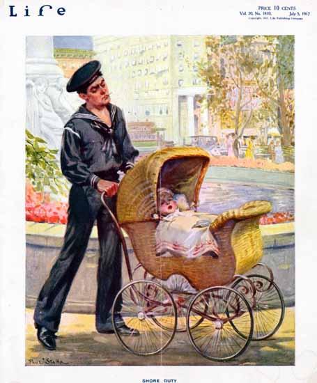 Paul Stahr Life Humor Magazine 1917-07-05 Copyright | Life Magazine Graphic Art Covers 1891-1936