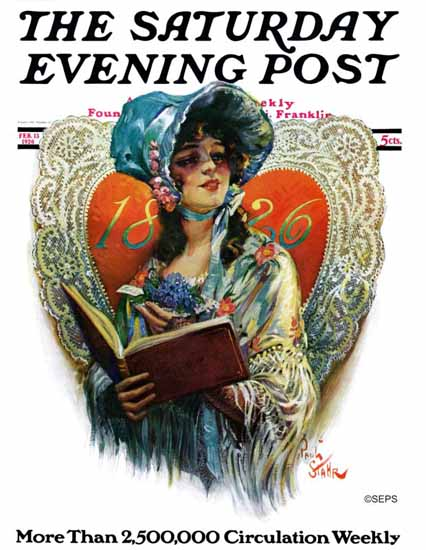 Paul Stahr Saturday Evening Post 1826 Cover 1926_02_13 | The Saturday Evening Post Graphic Art Covers 1892-1930