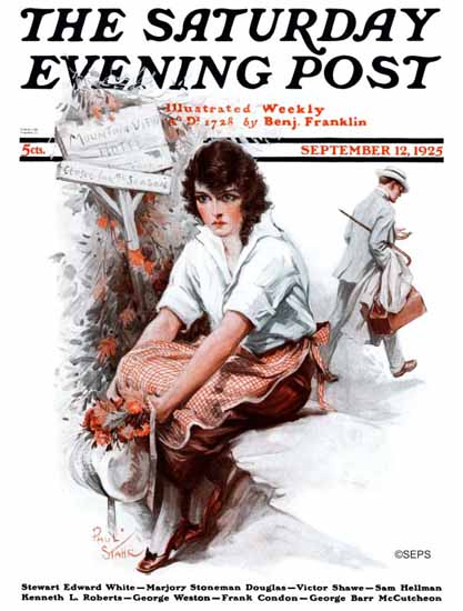 Paul Stahr Saturday Evening Post 1925_09_12   The Saturday Evening Post Graphic Art Covers 1892-1930