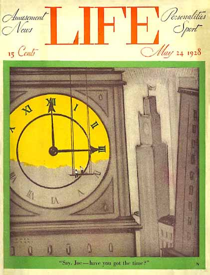 Paul Webb Life Humor Magazine 1928-05-24 Copyright | Life Magazine Graphic Art Covers 1891-1936