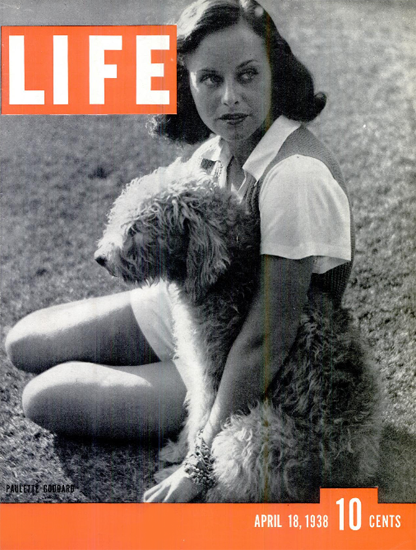 Paulette Goddard 18 Apr 1938 Copyright Life Magazine | Life Magazine BW Photo Covers 1936-1970