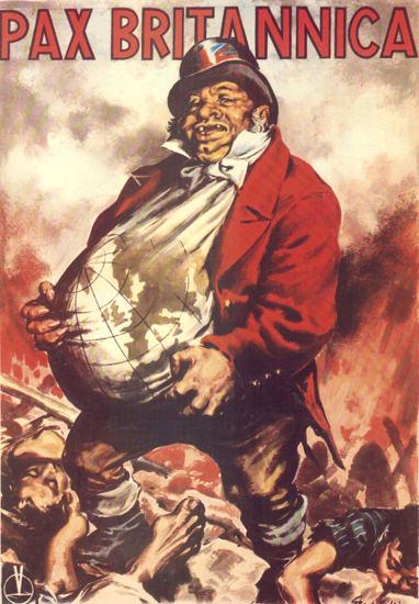 Pax Britannica Italy Italia   Vintage War Propaganda Posters 1891-1970