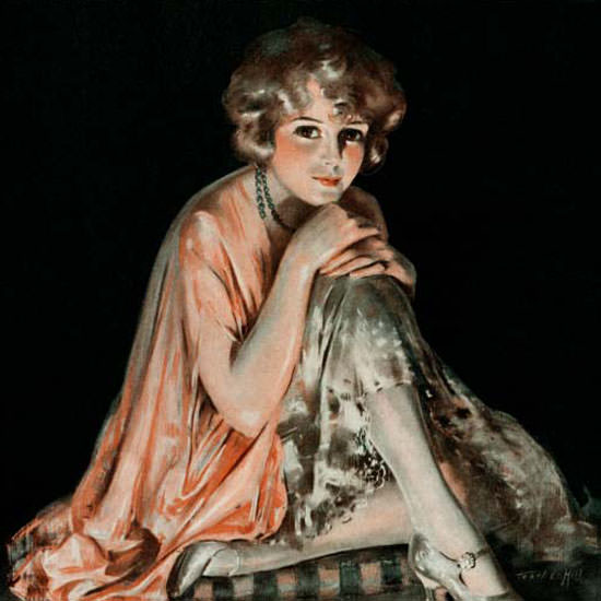 Pearl L Hill Cover Artist Saturday Evening Post 1924_02_09 Copyright crop | Best of Vintage Cover Art 1900-1970