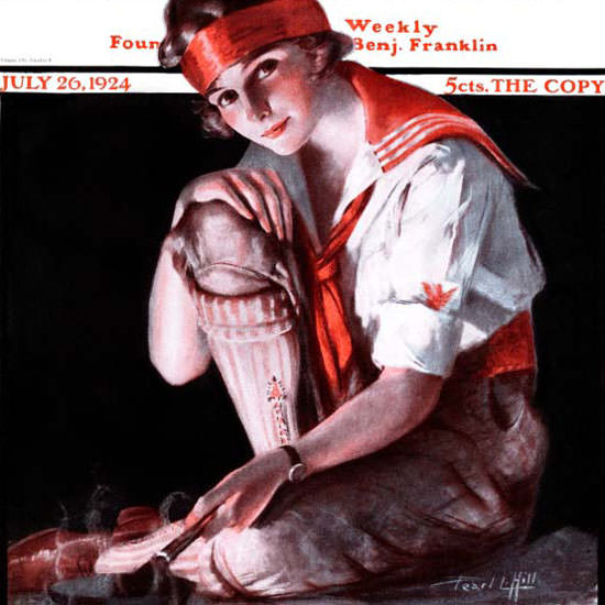 Pearl L Hill Cover Artist Saturday Evening Post 1924_07_26 Copyright crop | Best of 1920s Ad and Cover Art