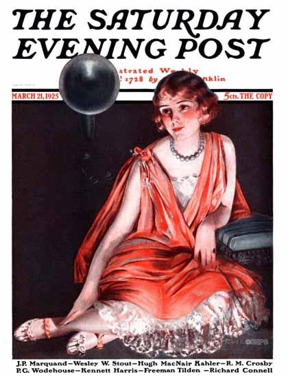 Pearl L Hill Cover Artist Saturday Evening Post 1925_03_21   The Saturday Evening Post Graphic Art Covers 1892-1930