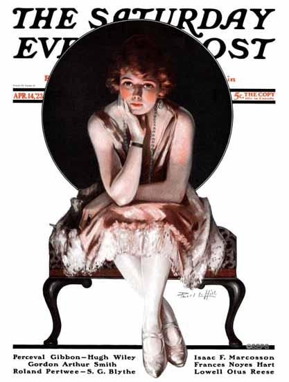 Pearl L Hill Saturday Evening Post The Ballerina 1923_04_14 | The Saturday Evening Post Graphic Art Covers 1892-1930
