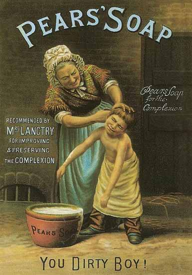 Pears Soap Ad 1895 You Dirty Boy | Vintage Ad and Cover Art 1891-1970