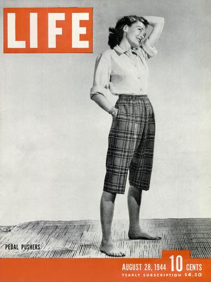 Pedal Rushers 28 Aug 1944 Copyright Life Magazine | Life Magazine BW Photo Covers 1936-1970