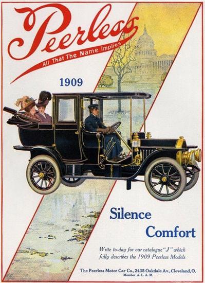 Peerless Automobile 1909 Cleveland Ohio | Vintage Cars 1891-1970