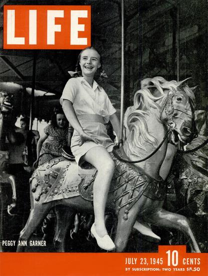 Peggy Ann Garner 23 Jul 1945 Copyright Life Magazine   Life Magazine BW Photo Covers 1936-1970