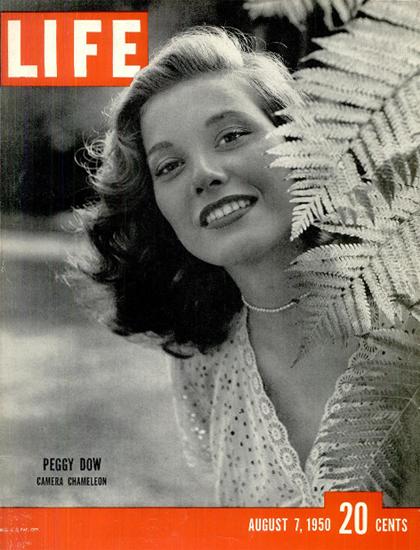 Peggy Dow Camera Chameleon 7 Aug 1950 Copyright Life Magazine | Life Magazine BW Photo Covers 1936-1970