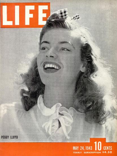 Peggy Lloyd 24 May 1943 Copyright Life Magazine | Life Magazine BW Photo Covers 1936-1970