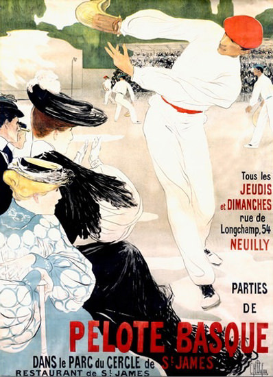 Pelote Basque St James Clementine Helene Dufau | Sex Appeal Vintage Ads and Covers 1891-1970