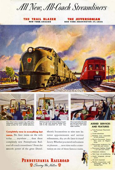Pennsylvania Railroad Blazer New York – Chicago | Vintage Travel Posters 1891-1970