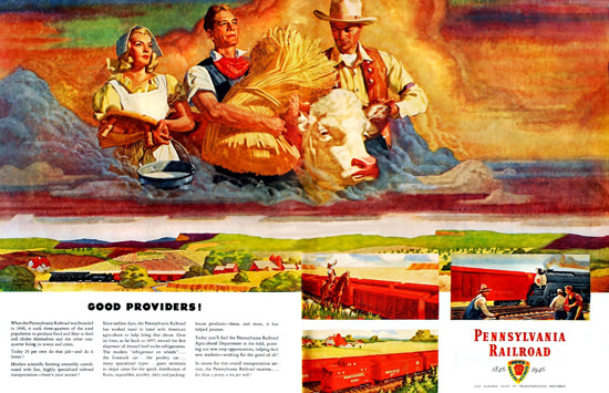 Pennsylvania Railroad Good Providers 1946 | Vintage Travel Posters 1891-1970